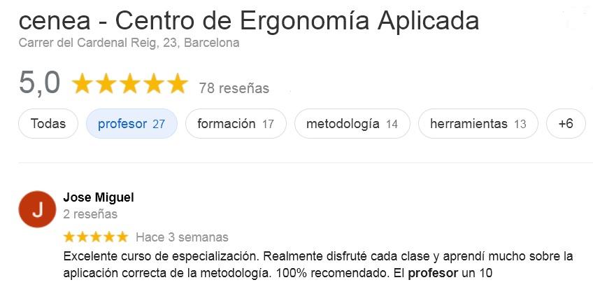 mejores cursos de ergonomia laboral, mejores cursos de ergonomia online